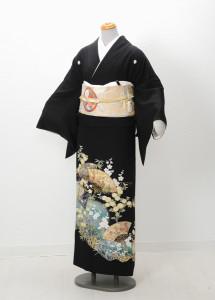 T-0001 ¥25,000  「さまざまな花と扇をあしらった一品」  大幅値下げ → ¥18,000