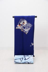 V-0006  ¥15,000 「艶やかな紺色を基調に紫式部の世界を表現」  大幅値下げ → ¥13,000