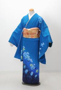 V-0002 ¥15,000 「紺のグラデーションを神秘的に花を取入れ現代風に表現」  大幅値下げ → ¥13,000